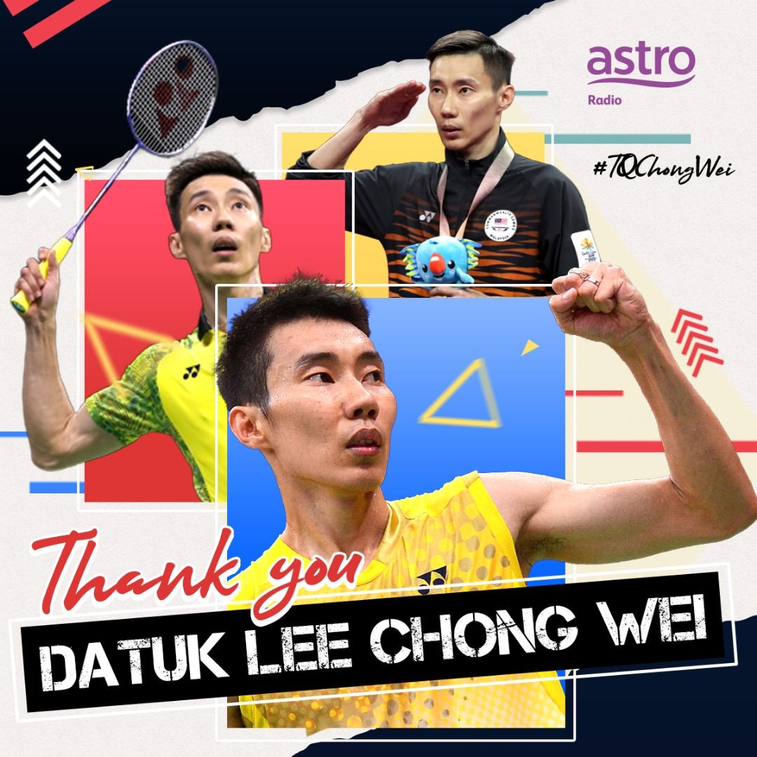 jaguh badminton negara, datuk lee chong wei umum bersara