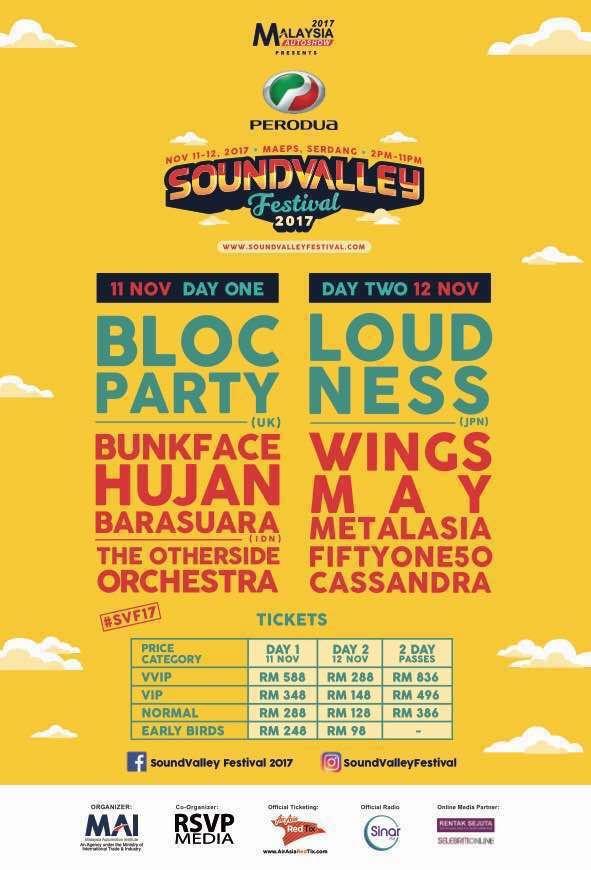 menangi tiket menonton konsert sound valley festival 2017 di sinar