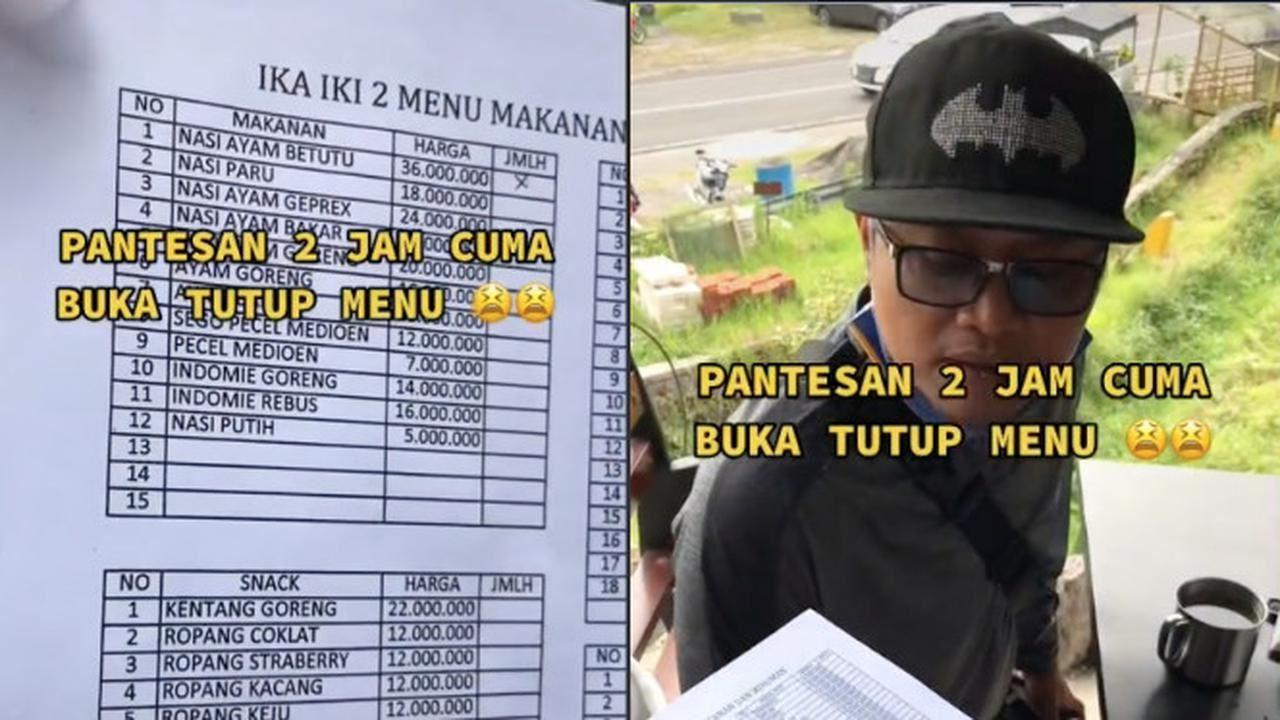 mahalnya, warung di indonesia ini jual nasi putih dengan harga rm1k lebih!