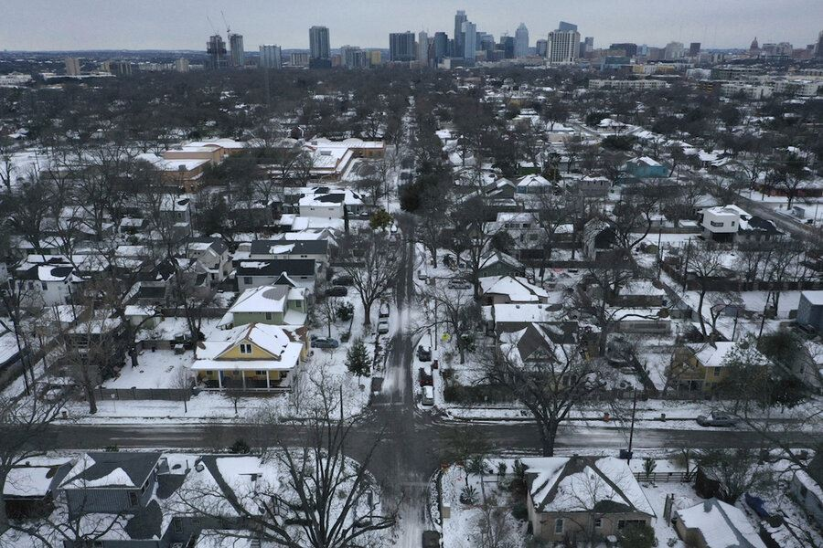 gadis ini cuba buktikan salji di texas adalah palsu dan dicipta, ''konspirasi ..?''