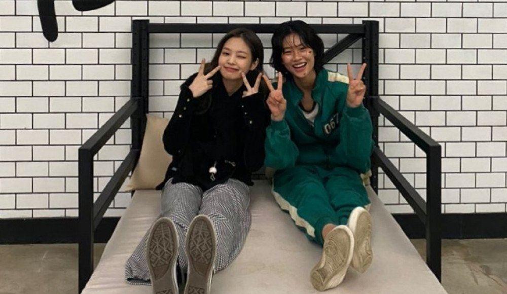 jennie blackpink lawat set squid game, lepak dengan pelakon jung ho yeon