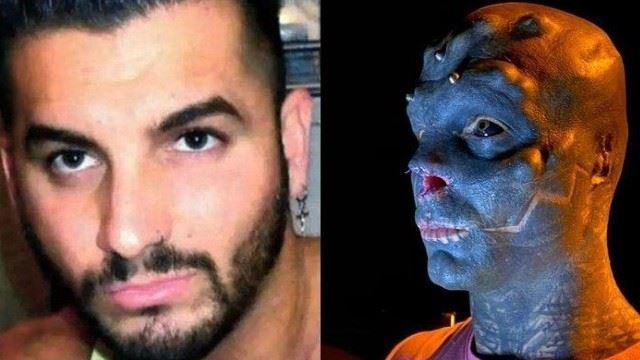 terlalu suka dengan rupa makhluk asing, lelaki ini sanggup mengubah wajah kacaknya