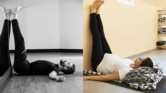 angkat kaki ke dinding selama 20 minit setiap hari boleh cegah banyak masalah