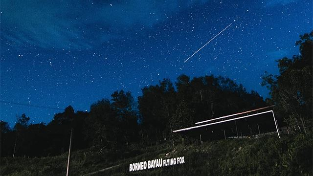 video hujan meteor jelas kelihatan di sekinchan dan kota belud