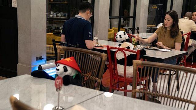 pengusaha restoran letak anak patung panda supaya pelanggan tak rasa bersendirian