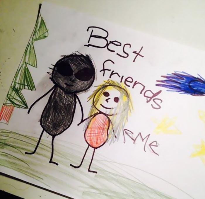 gambar-gambar aneh hasil dari lukisan kanak-kanak