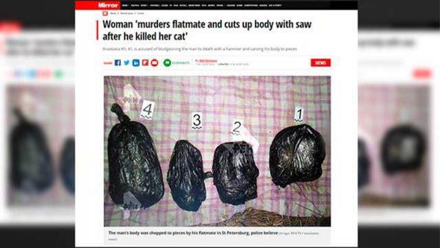 wanita bunuh rakannya selepas mengetahui kucing dibunuh