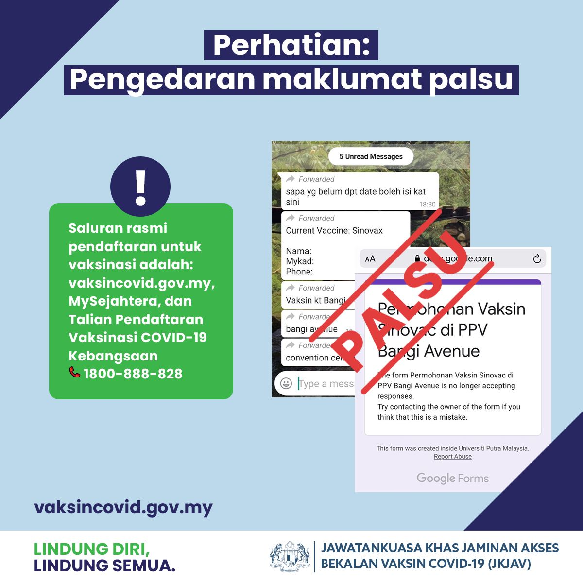 jangan tertipu borang pendaftaran vaksin melalui google form