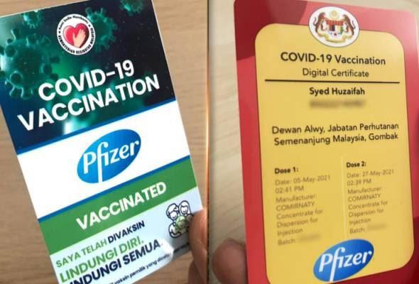 kkm nafi keluar kad vaksinasi, sijil hanya menerusi mysejahtera