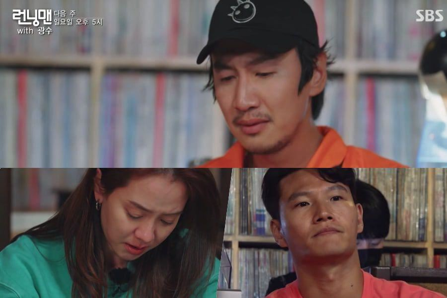 sebak, lee kwang soo baca surat perpisahan dalam episod terakhir running man