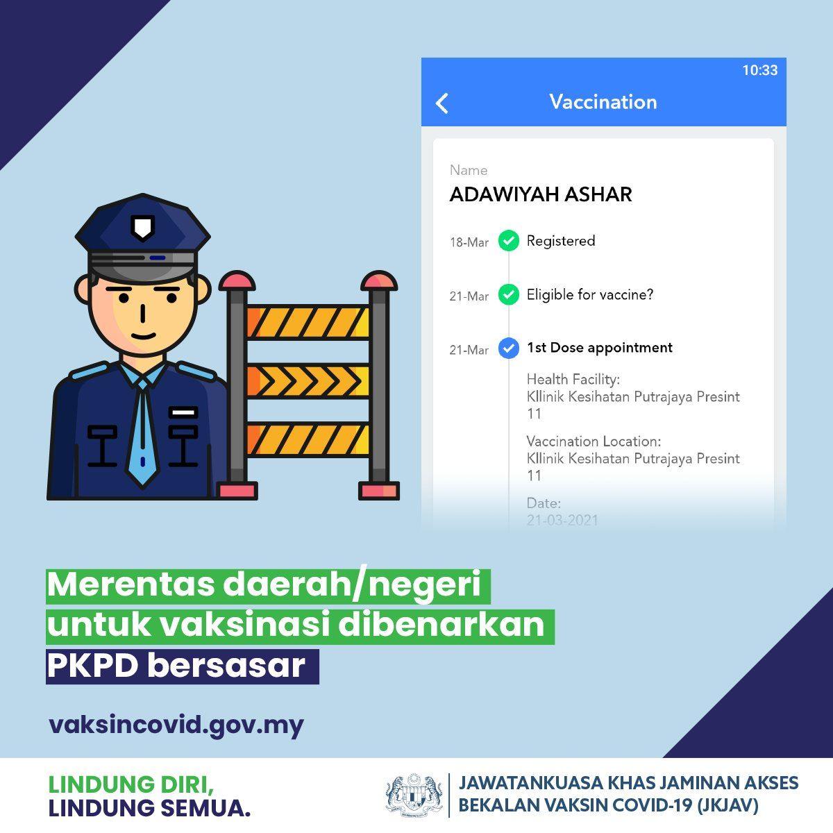 pkpd: jangan bimbang lalu roadblock untuk ambil vaksin