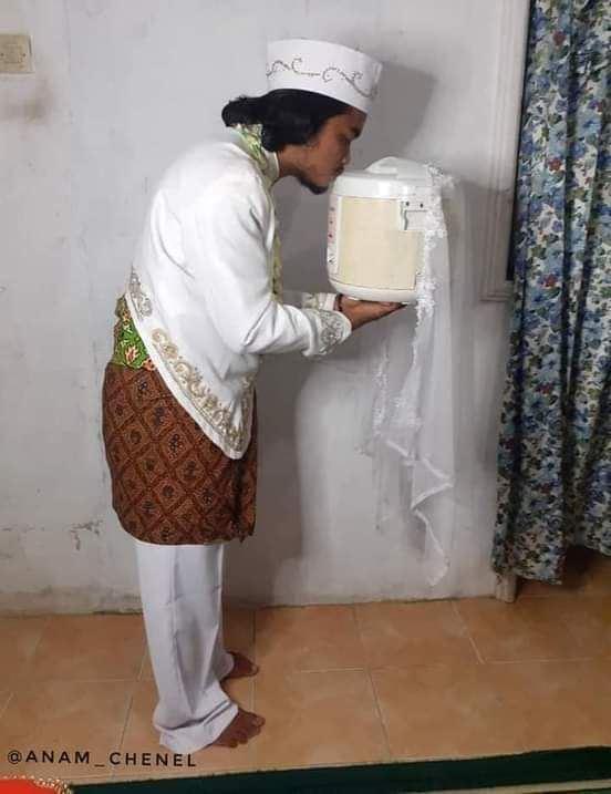 putih, pendiam & pandai memasak, lelaki 'kahwin' dengan periuk nasi
