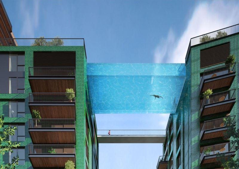 london bina kolam terapung di langit yang pertama di dunia