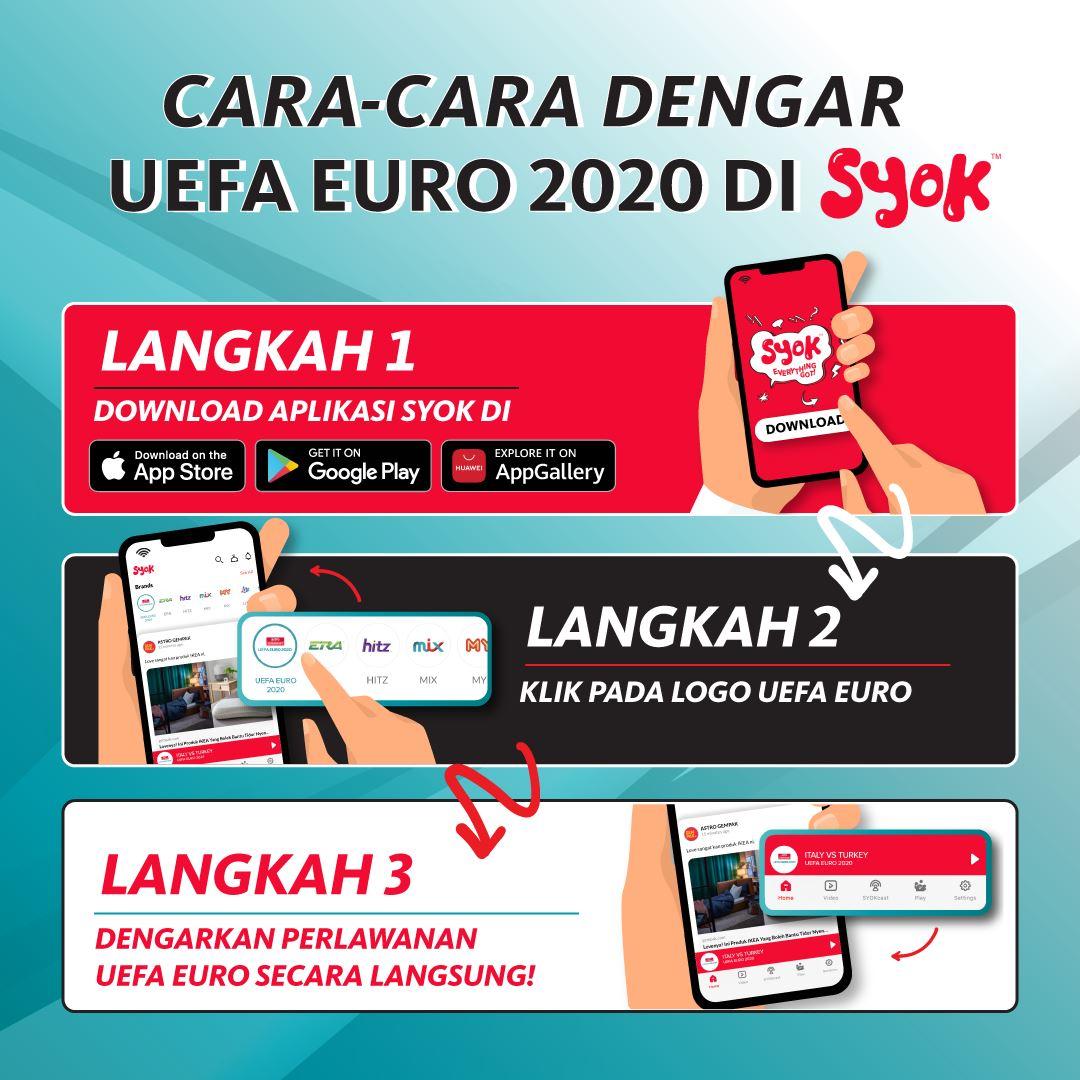 dengarkan uefa euro 2020 secara live di syok!