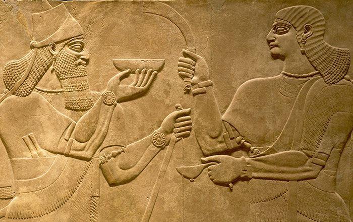 lelaki masak resipi kuno dari zaman mesopotamia, berusia kira-kira 4,000 tahun!