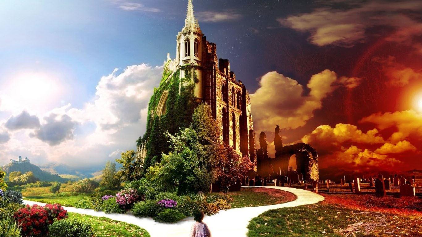 bicara tentang keindahan gambaran syurga, taman yang diukir oleh yang maha esa