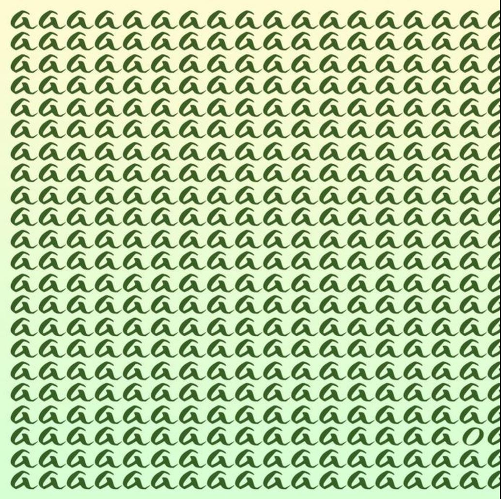 uji ketajaman penglihatan anda, temui huruf berbeza dalam tempoh 5 saat