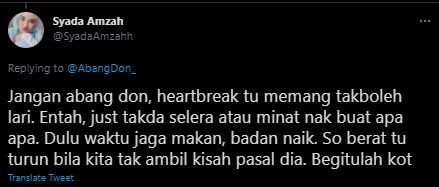 ''tips dia heartbreak ke?,'' ramai kagum syada amzah susut berat