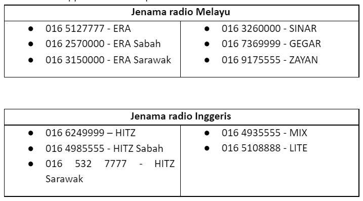 astro radio lancar kami care helpline, talian bantuan kepada rakyat malaysia terjejas