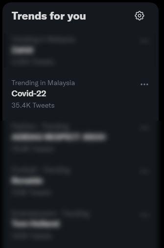 'covid-22' trending di twitter, ini sebenarnya yang berlaku