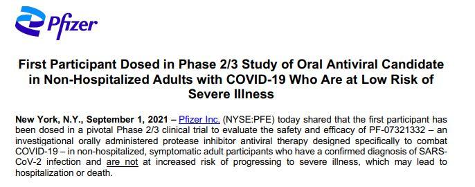 pfizer kini sedang menguji pil rawat covid-19