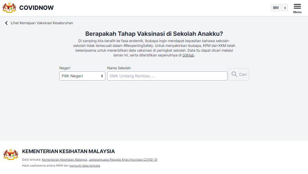 ini cara semak kadar vaksin covid-19 sekolah di malaysia