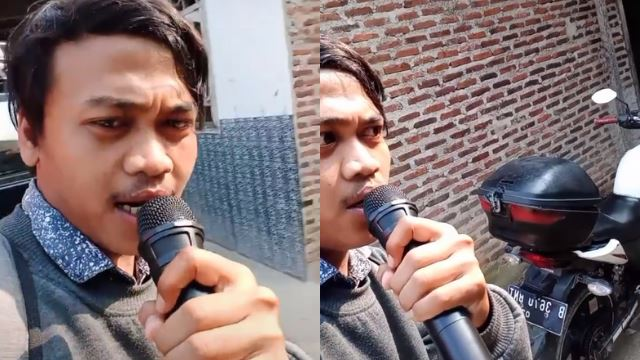 viral pemuda indonesia kutip hutang guna mikrofon