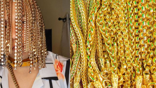 penyanyi rap tular kerana pasang implan rantai emas sebagai pengganti rambut