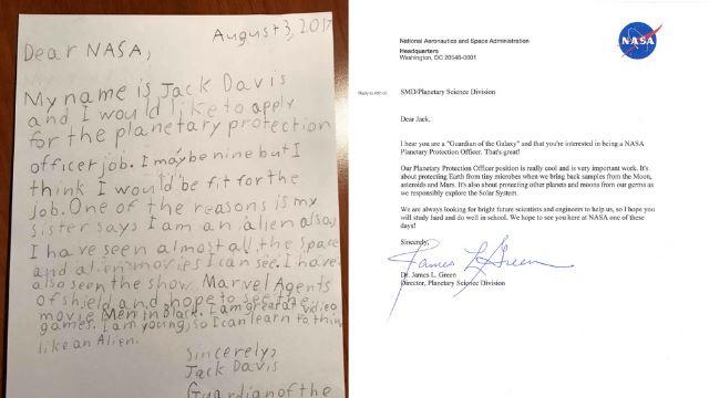 comel, kanak-kanak berusia 9 tahun hantar 'resume' mohon kerja di nasa