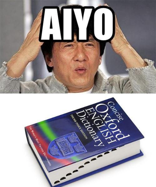 perkataan 'aiyo' telah lama diakui kamus, namun yang paling mengejutkan adalah asal usulnya!