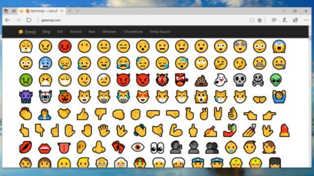 cara taip emoji di 'keyboard' pc