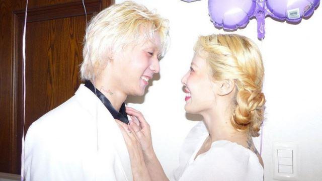 5 tahun bercinta, hyuna dan dawn akhirnya berkahwin?