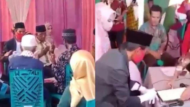 lelaki jatuh talak pada pengantin wanita sesudah nikah, suasana majlis bertukar haru-biru