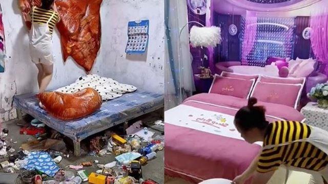 terbaik! wanita ubah bilik penuh sampah sarap jadi macam ruang hotel