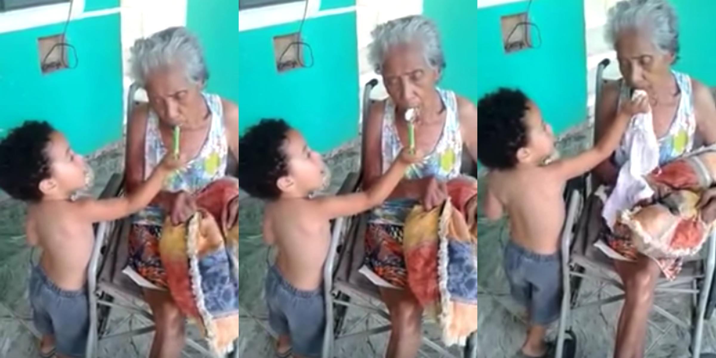 [Video] Cara Dan Gaya Kanak-Kanak Lelaki ini Menjaga Neneknya Curi Perhatian Netizen