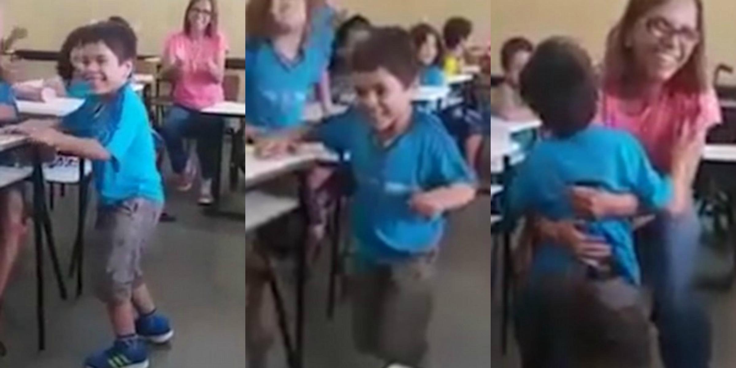 [Video] Kawan-Kawan Sekelas Bersorak Ketika Melihat Kanak-Kanak Lumpuh Ini Berjalan Buat Kali Pertama