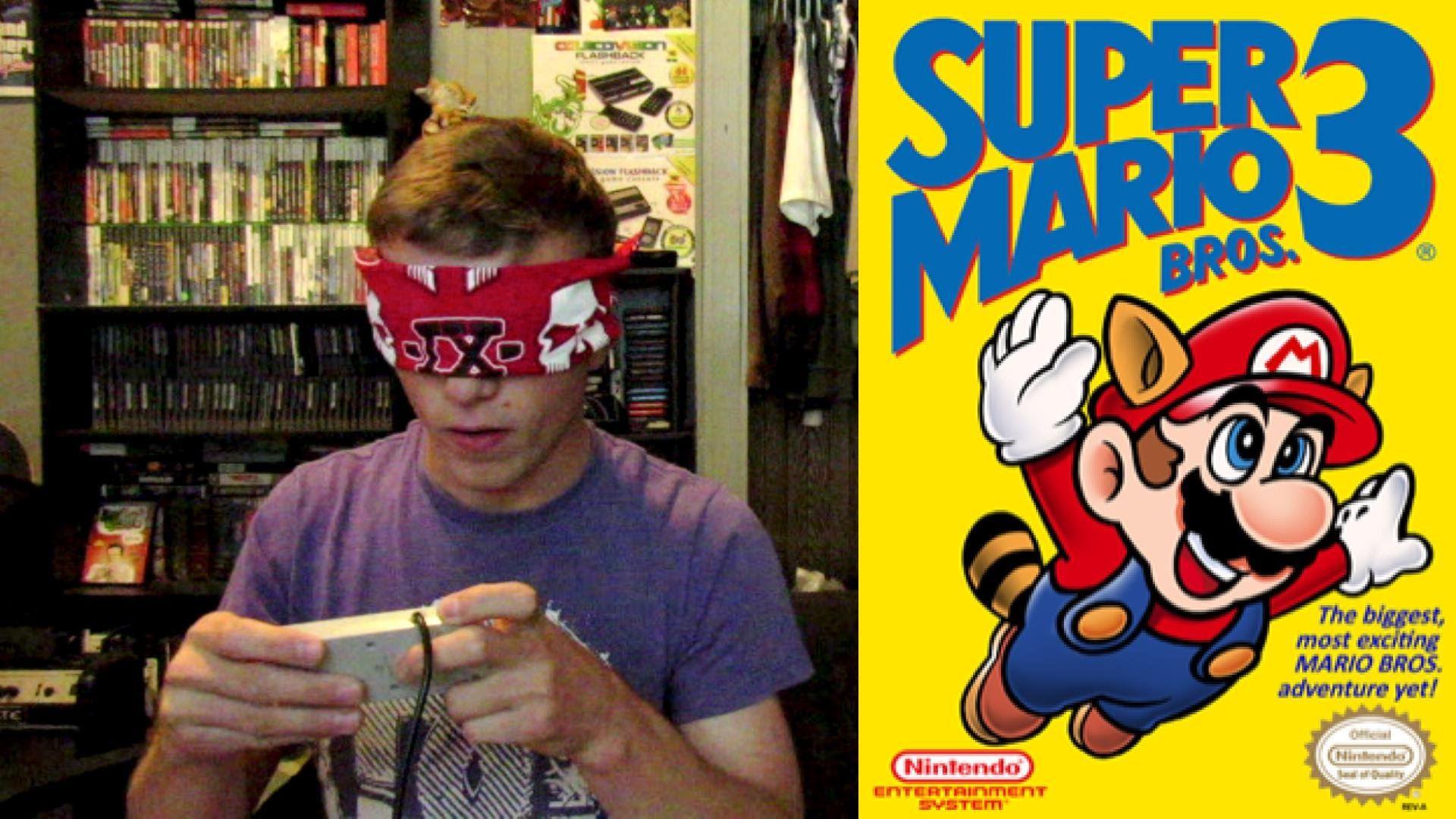 Dia Makan Game Super Mario World Sambil Tutup Mata, Power Betul