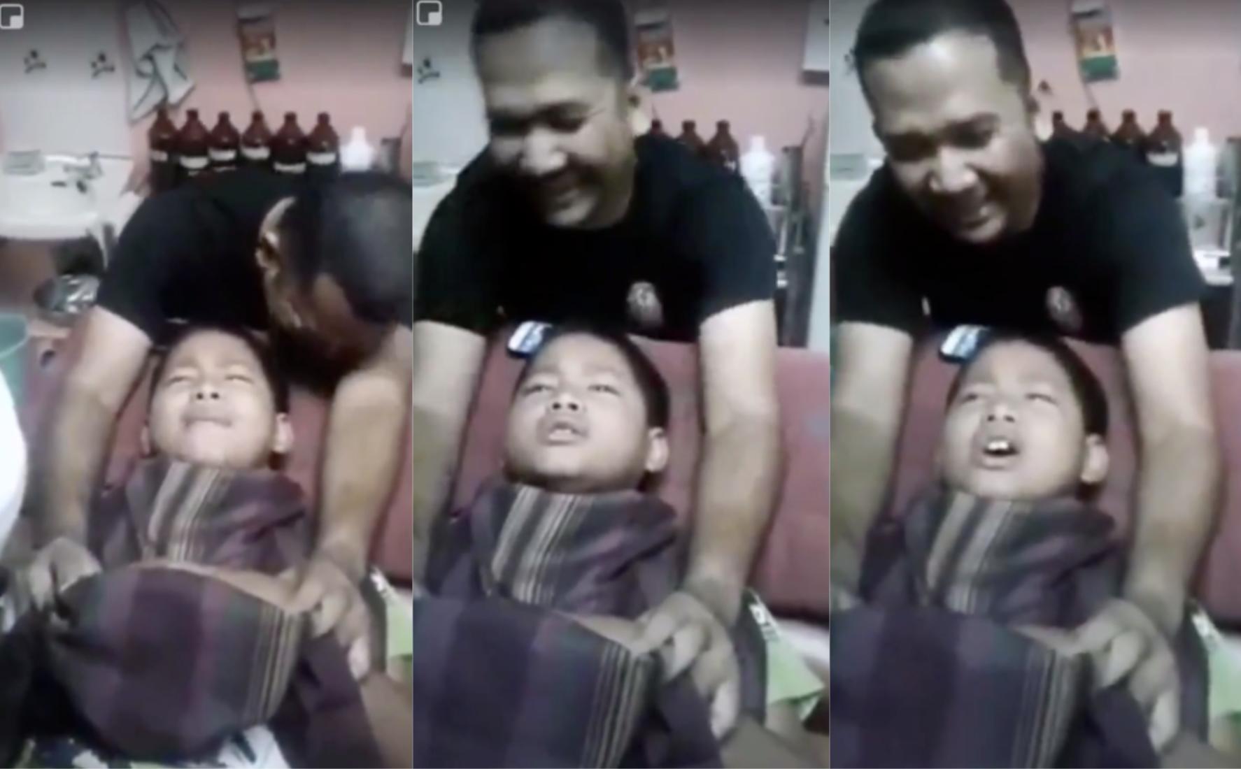 Cara Budak Ni Tahan Sakit Ketika Berkhatan Buat Ramai Terhibur