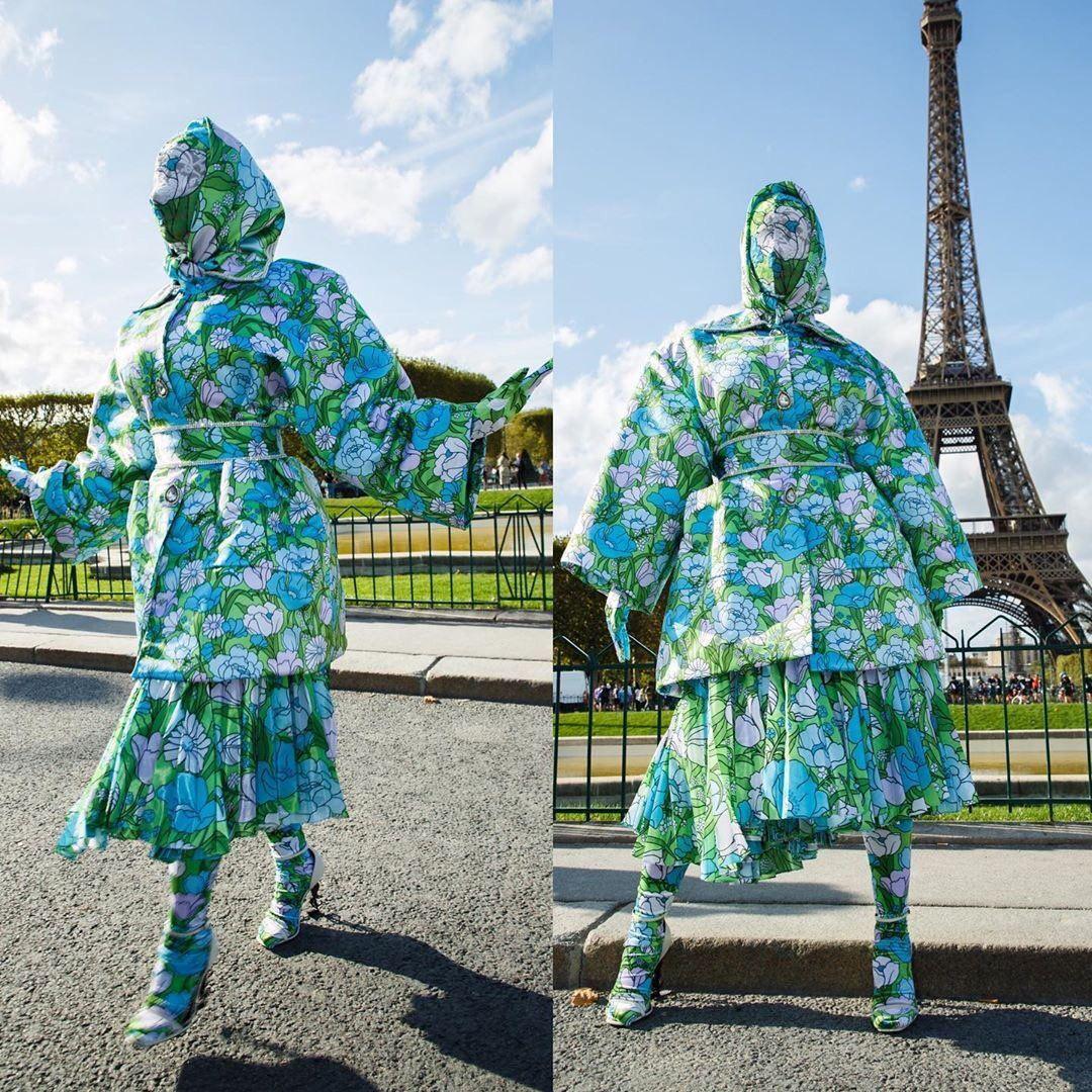 """cardi b 现身巴黎时装周!一身打扮 """"很时尚"""" !"""
