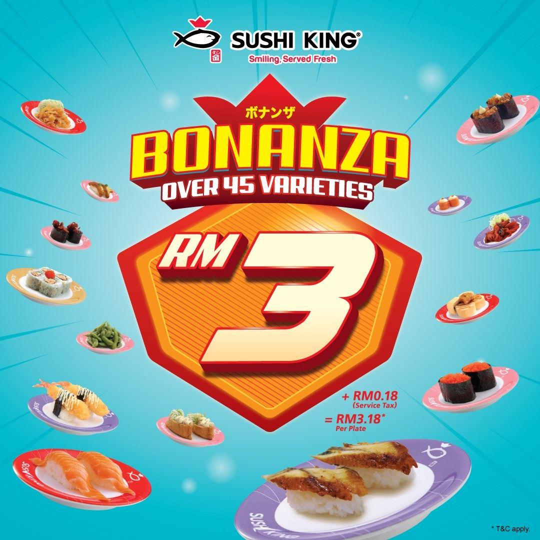 sushi king bonanza 回来啦!好吃又便宜的寿司让你吃到爽!