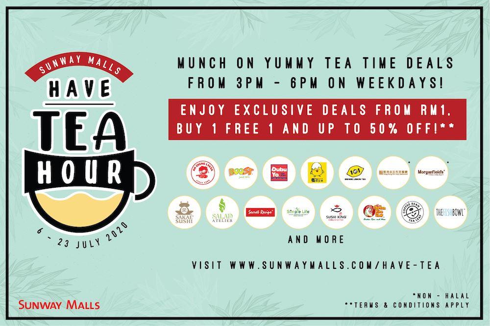 """复原行动管制令期间, 双威购物商场推出""""下午茶优惠""""折扣高达50% !"""