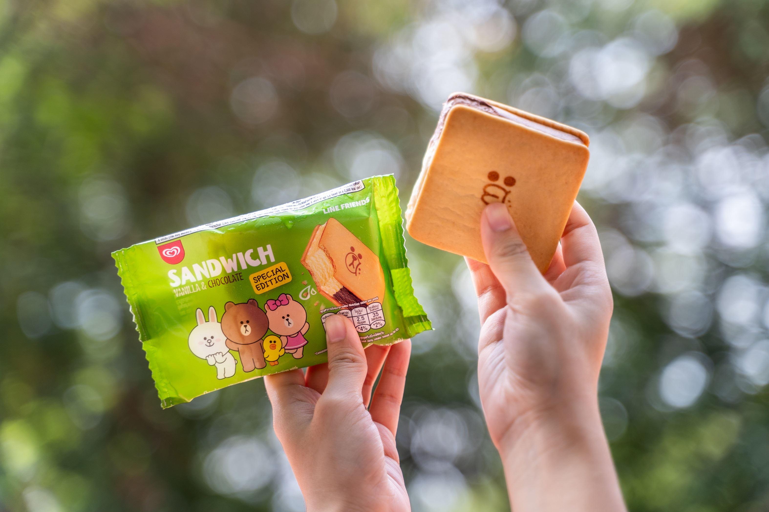 line friends与wall's malaysia推出全新特别版「三明治」冰淇淋,只需rm2!