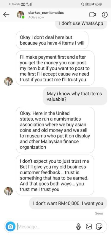 a scammer's love story