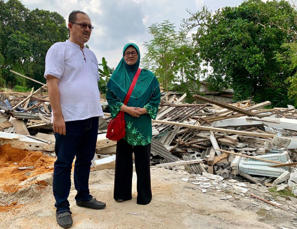 widow in johor horrified to find her home mistakenly demolished