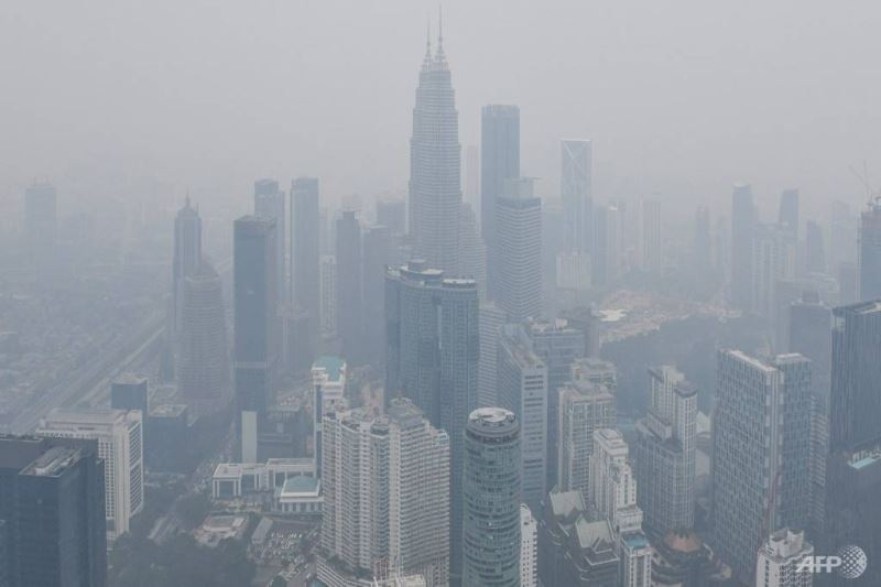 a sign for the haze - literally