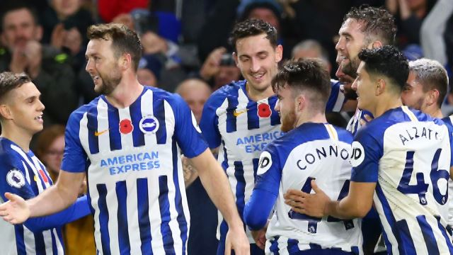 Brighton Hove & Albion 2-0 Norwich City