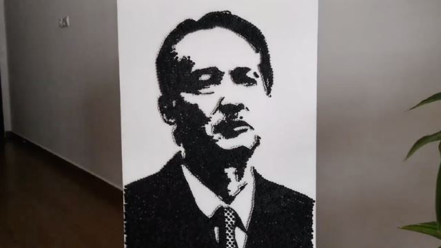 Talented Malaysian Artist Used 4,219 Screws To Make A Portrait Of Our Health DG