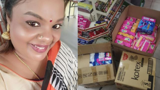 Woman Delivers Sanitary Pads For Women And Girls In Need During This Difficult Time
