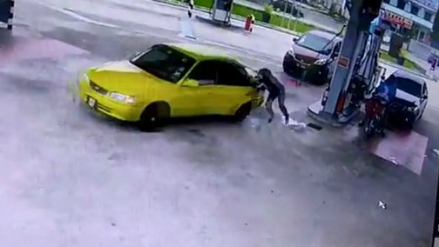 Man Steals Woman's Car As She's Pumping Fuel