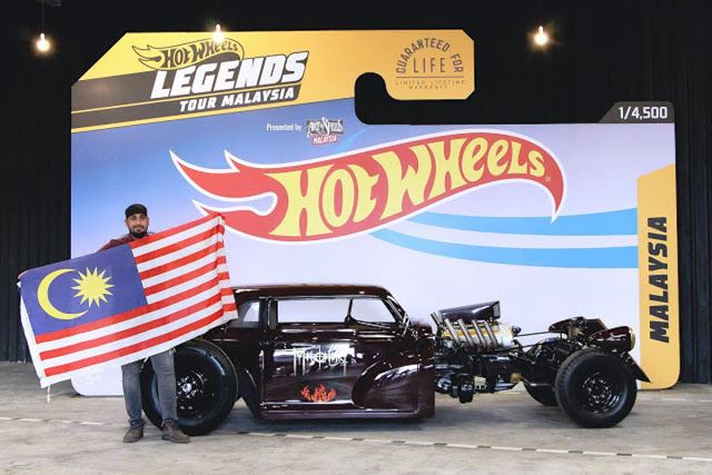 jay leno commends malaysian participant's car in hot wheels legends tour